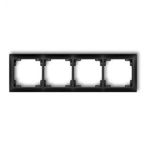 Ramki-poczworne - poczwórna ramka czarna matowa 12drso-4 deco soft karlik