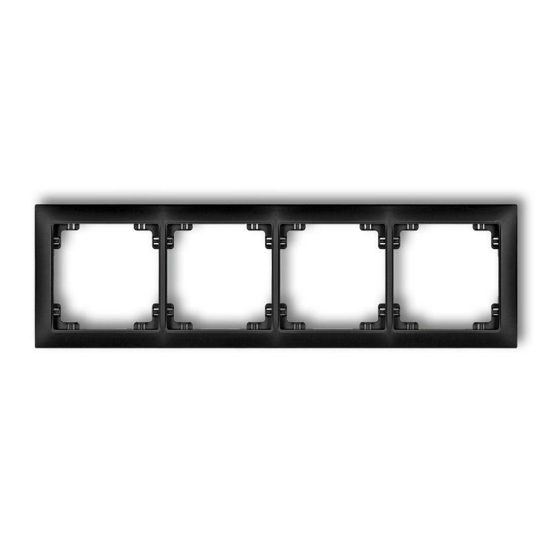 Ramki-poczworne - poczwórna ramka czarna matowa 12drso-4 deco soft karlik firmy Karlik