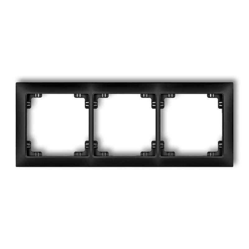 Ramki-potrojne - potrójna czarna matowa ramka 12drso-3 deco soft karlik firmy Karlik