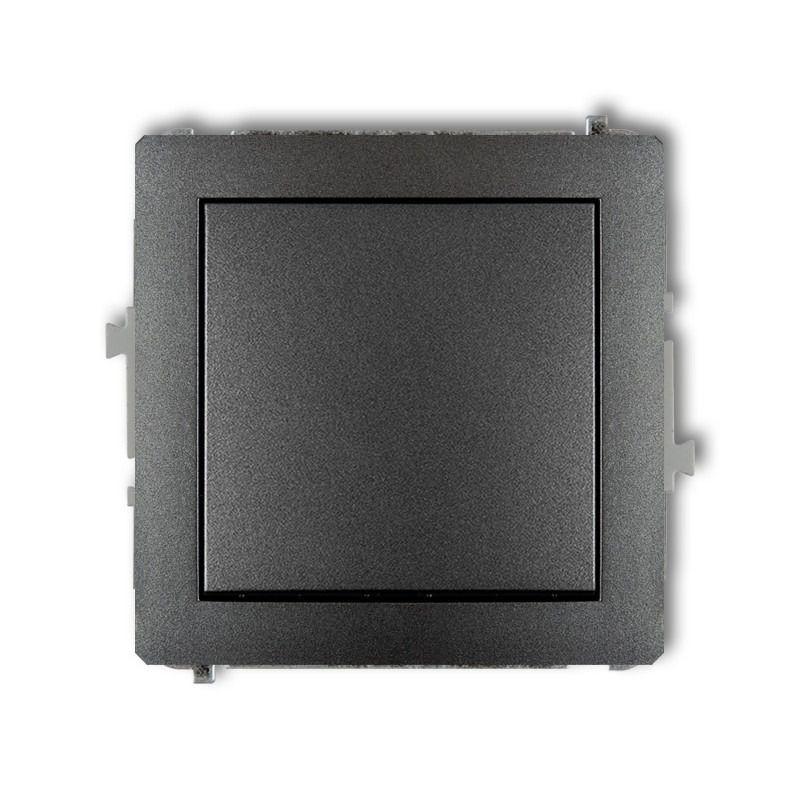 Ramki-pojedyncze - grafitowy włącznik zwierny pojedynczy 11dwp-4.1 deco karlik firmy Karlik