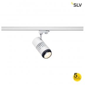 Oswietlenie-szynowe - biała oprawa szynowa structec led soczewka ze zmienną ogniskową szyna 3f 3000k biała 20-60°3f adapter spotline