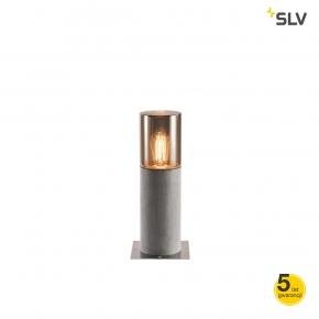 Slupki-ogrodowe - lampa zewnętrzna słupek ogrodowy lisenne pole 40 e27 szara ip54 spotline