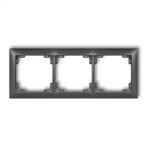 Ramki-potrojne - potrójna grafitowa ramka 11drso-3 deco soft karlik