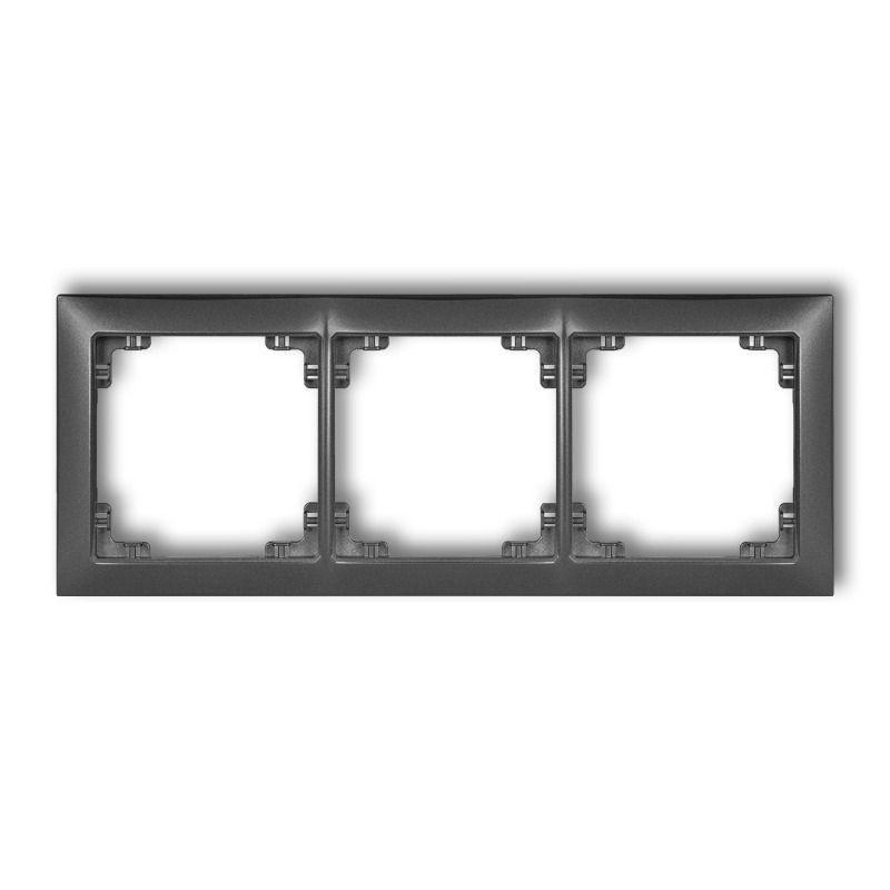 Ramki-potrojne - potrójna grafitowa ramka 11drso-3 deco soft karlik firmy Karlik