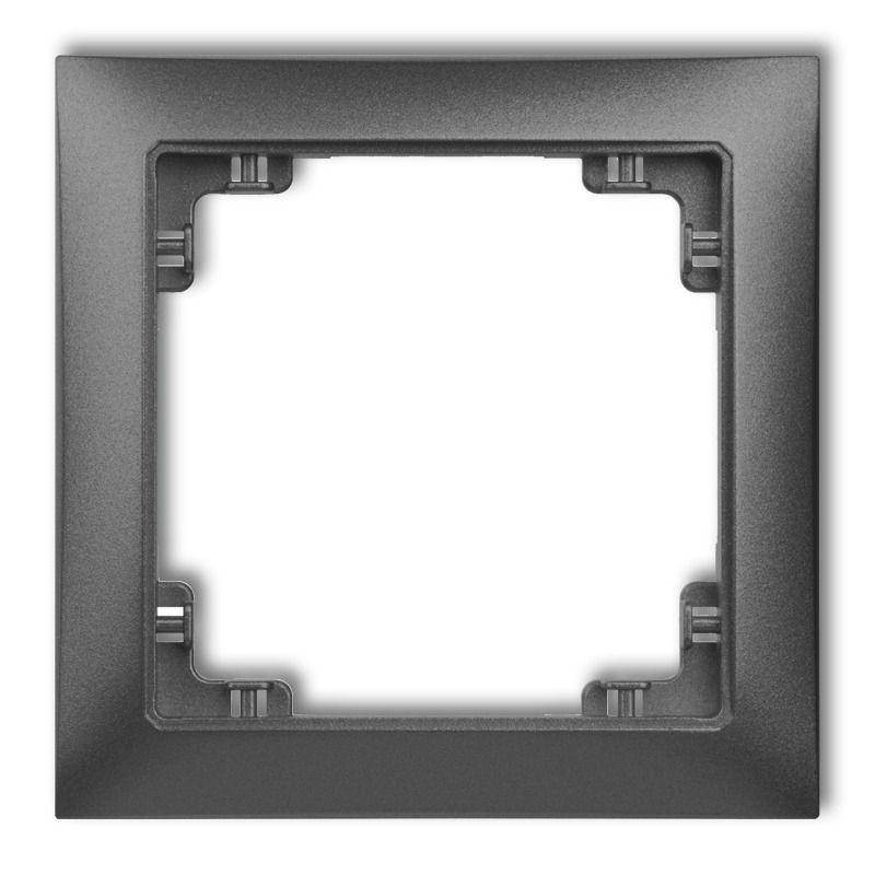 Osprzet-produkty-uzupelniajace - pojedyncza ramka grafitowa 11drso-1 deco soft karlik firmy Karlik
