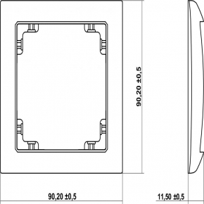 Osprzet-produkty-uzupelniajace - pojedyncza ramka grafitowa 11drso-1 deco soft karlik