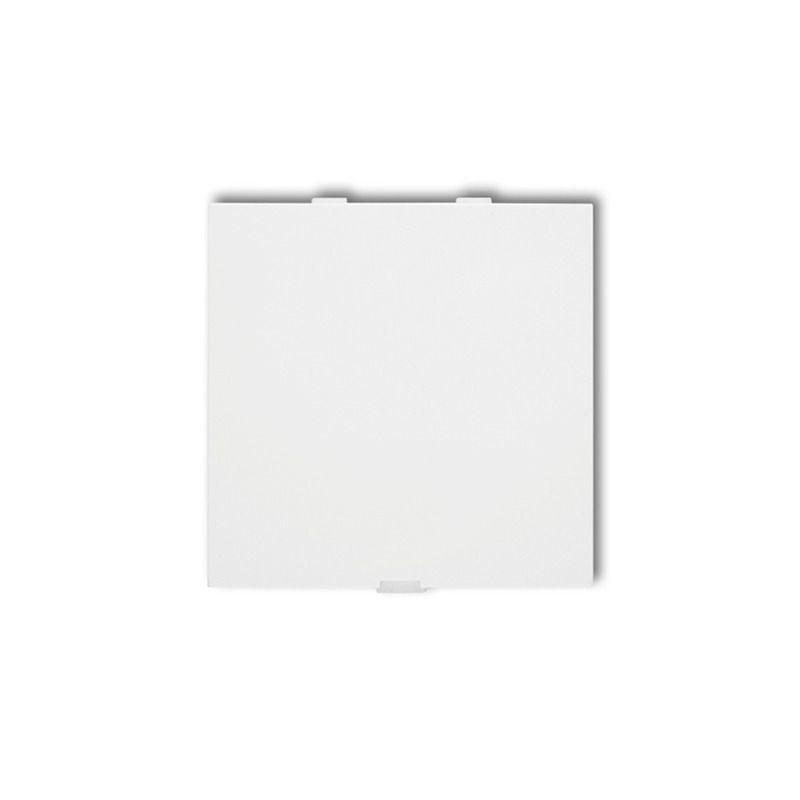 Zaslepki - biała zaślepka do ramki dza deco karlik firmy Karlik