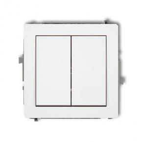 Biały podwójny włącznik świecznikowy DWP-44.1 DECO KARLIK
