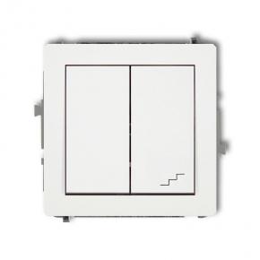 Łącznik jednobiegunowy+schodowy biały DWP-10.2 DECO KARLIK