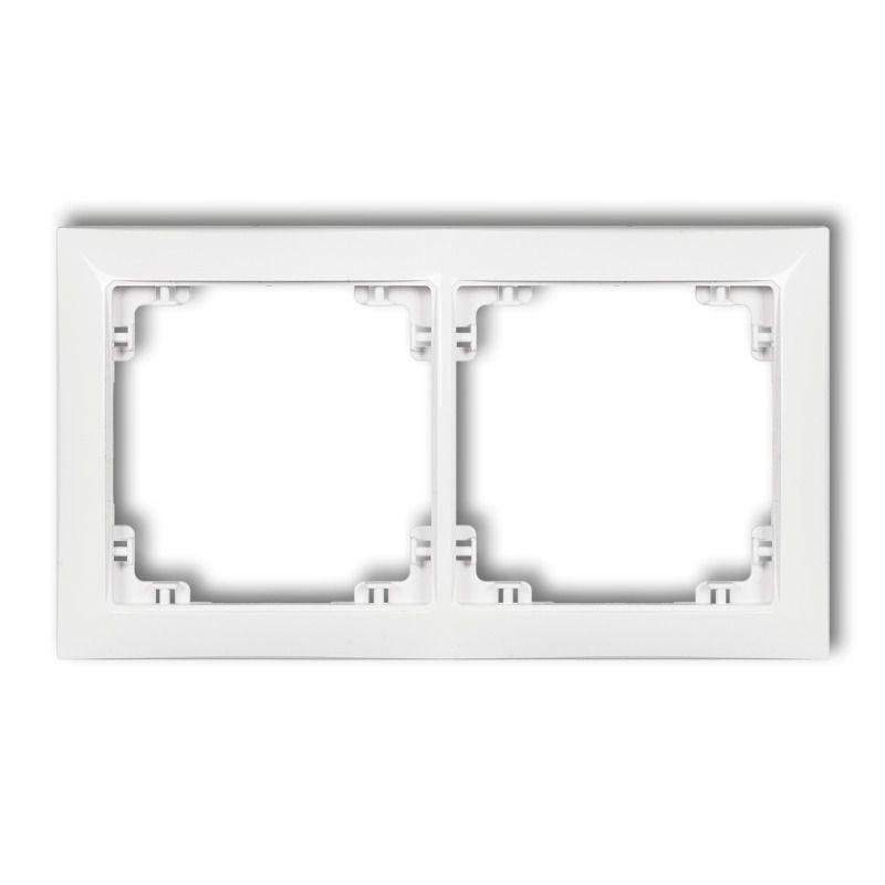 Ramki-podwojne - biała podwójna ramka drso-2 deco soft karlik firmy Karlik