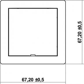 Osprzet-produkty-uzupelniajace - biała ramka pośrednia z zaślepką drpz deco karlik