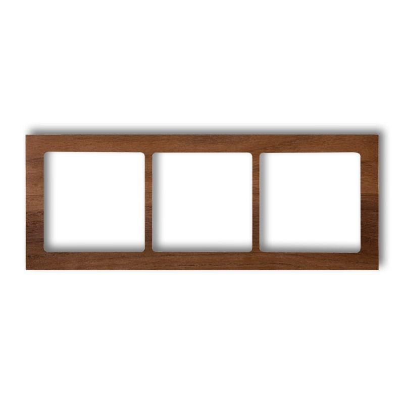 Ramki-potrojne - potrójna ramka orzech amerykański (drewno) drd-3e deco karlik firmy Karlik