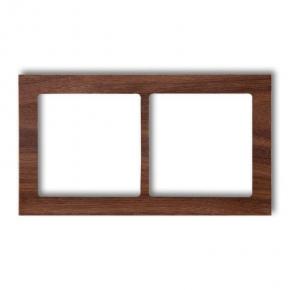 Ramki-podwojne - podwójna ramka z drewna orzech amerykański drd-2e deco karlik