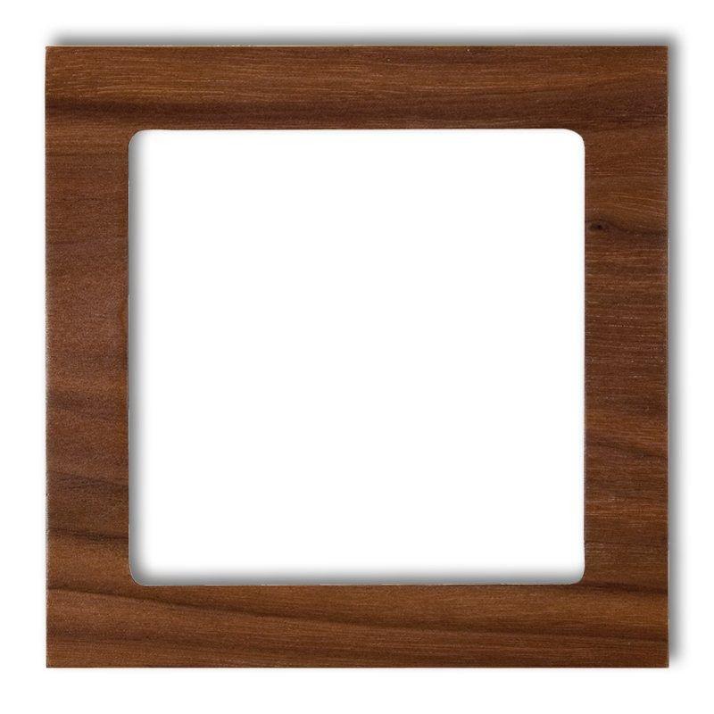 Ramki-pojedyncze - pojedyncza ramka orzech amerykański (drewno) drd-1e deco karlik firmy Karlik