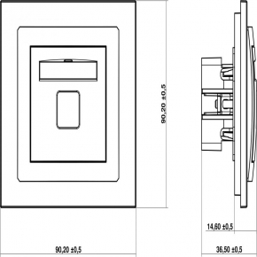Gniazda-antenowe - białe gniazdo antenowe tv dgtv-1 deco karlik