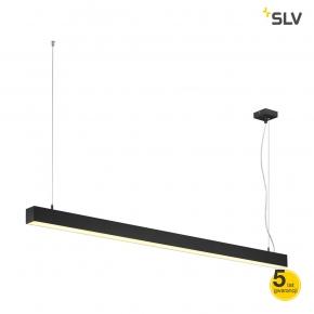 Lampy-sufitowe - wisząca lampa sufitowa nad stół czarna q-line single led 1500mm spotline