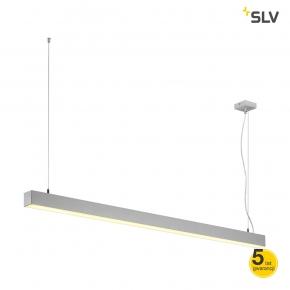 Lampy-sufitowe - dekoracyjna lampa wisząca szara q-line  single led 1500mm spotline