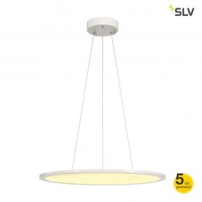 Lampy-sufitowe - wisząca lampa sufitowa okrągła o średnicy 60 cm panel biała 360led 40w spotline