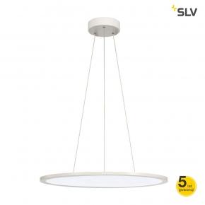 Lampy-sufitowe - okrągła wisząca lampa sufitowa led panel 60 biała 360led 40w spotline