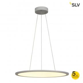 Lampy-sufitowe - lampa wisząca panel 60 srebrno-szara 360led spotline