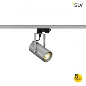Oswietlenie-szynowe - lampa szynowa 3f euro spot led 9w cob led srebrno szara 36° 3000k spotline
