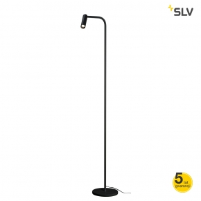 Lampy-stojace - czarna lampa stojąca karpo spotline