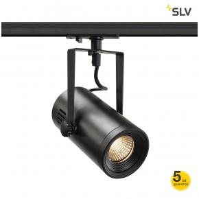 Oswietlenie-szynowe - ruchoma oprawa szynowa euro spot track 1f czarna 3000k 36° spotline