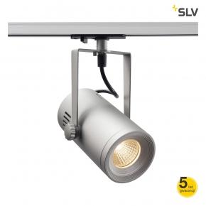 Oswietlenie-szynowe - lampa szynowa 1f euro spot track srebrno szara 3000k 36° spotline