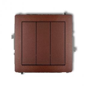 Potrójny włącznik brązowy metaliczny 9DWP-7 DECO KARLIK