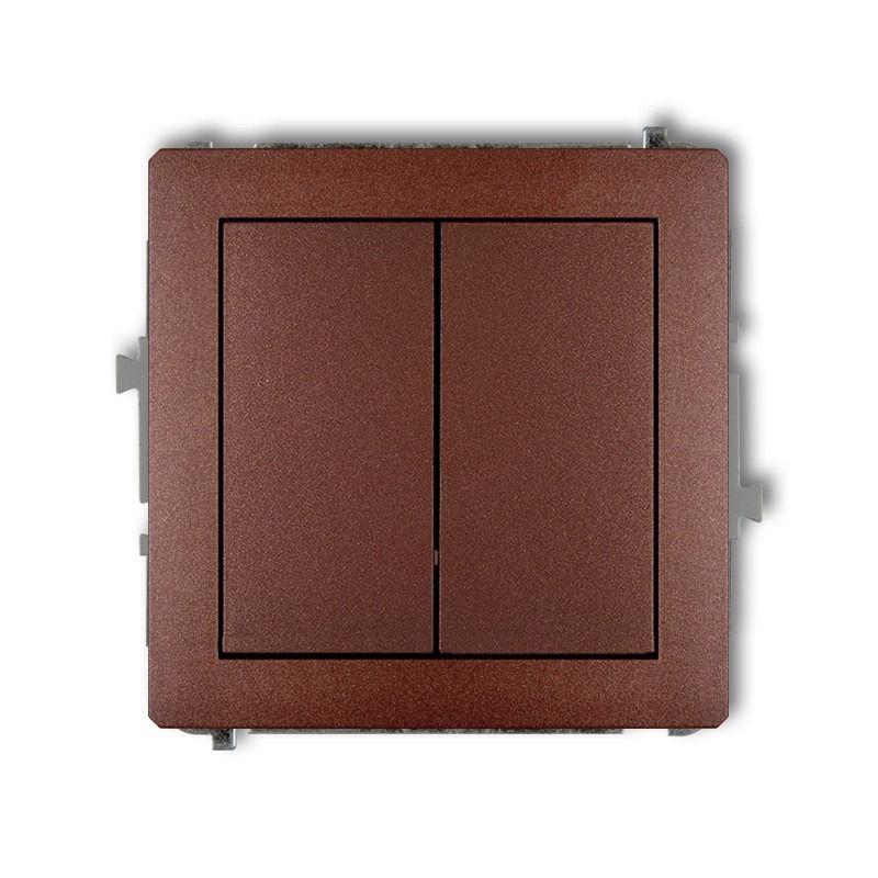 Wylaczniki-podwojne - podwójny włącznik brązowy 9dwp-2 deco karlik firmy Karlik