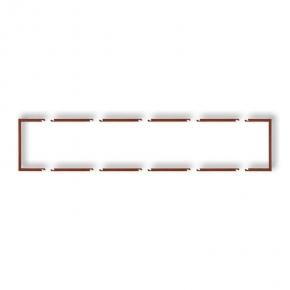 Osprzet-produkty-uzupelniajace - pięciokrotna ramka wypełniająca brązowa 9drw-5 deco karlik
