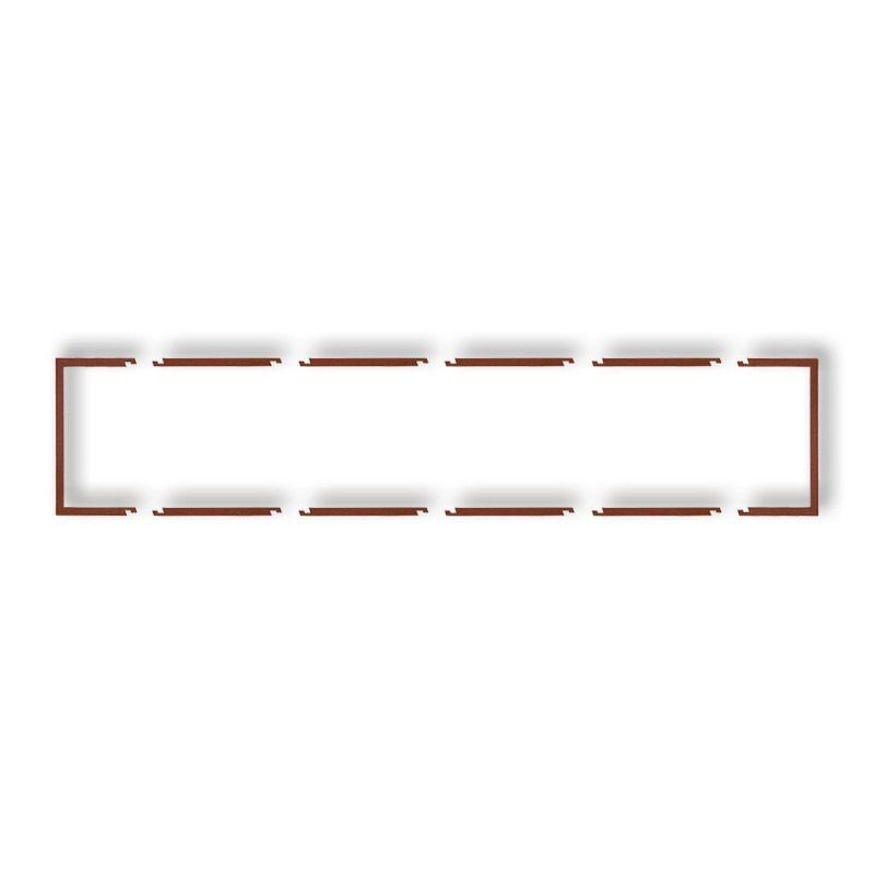 Osprzet-produkty-uzupelniajace - pięciokrotna ramka wypełniająca brązowa 9drw-5 deco karlik firmy Karlik