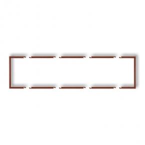 Osprzet-produkty-uzupelniajace - poczwórna brązowa metaliczna ramka wypełniająca 9drw-4 deco karlik