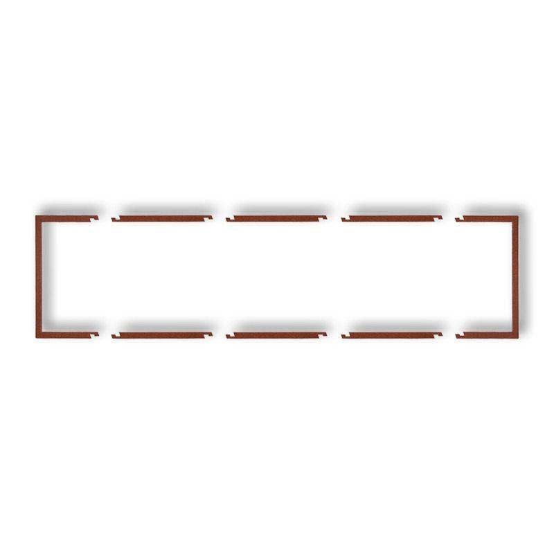 Osprzet-produkty-uzupelniajace - poczwórna brązowa metaliczna ramka wypełniająca 9drw-4 deco karlik firmy Karlik