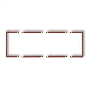 Osprzet-produkty-uzupelniajace - brązowa metaliczna ramka potrójna wypełniająca 9drw-3 deco karlik