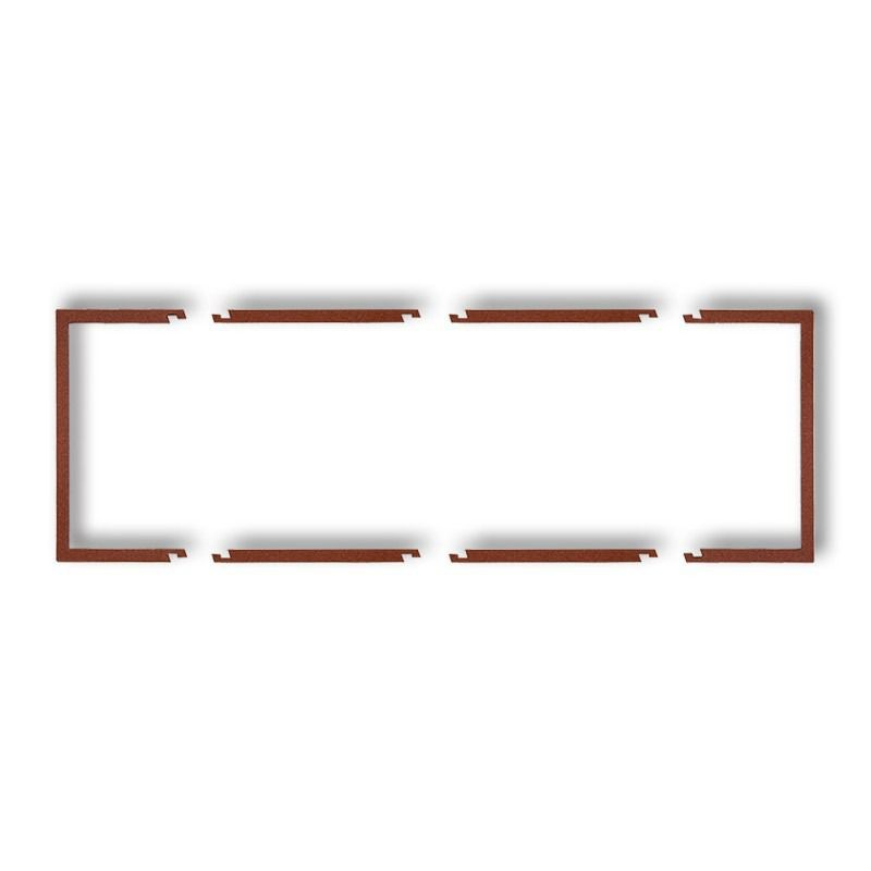 Osprzet-produkty-uzupelniajace - brązowa metaliczna ramka potrójna wypełniająca 9drw-3 deco karlik firmy Karlik