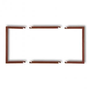 Osprzet-produkty-uzupelniajace - podwójna ramka wypełniająca brązowa 9drw-2 deco karlik