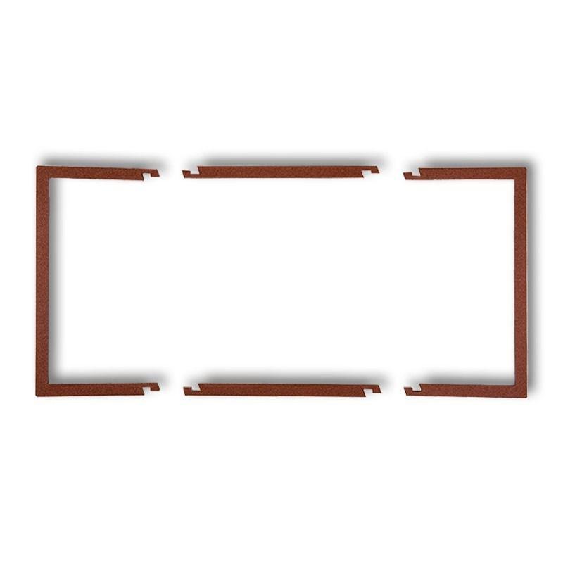 Osprzet-produkty-uzupelniajace - podwójna ramka wypełniająca brązowa 9drw-2 deco karlik firmy Karlik