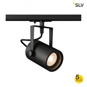 Oswietlenie-szynowe - oprawa szynowa ruchomy reflektor gu10 euro spot track qpar 51 1f czarna spotline