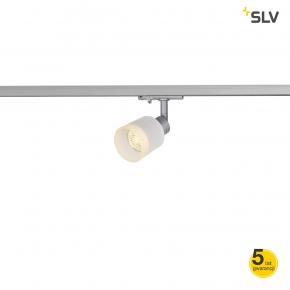 Oswietlenie-szynowe - lampa sufitowa na szynie szklana srebrna 1f puri track 1001870 spotline