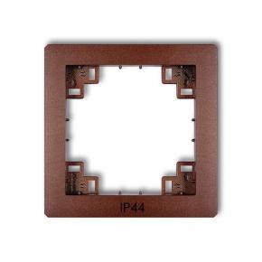 Osprzet-produkty-uzupelniajace - pośrednia ramka do włączników brązowa ip44 9drph deco karlik
