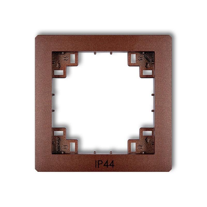 Osprzet-produkty-uzupelniajace - pośrednia ramka do włączników brązowa ip44 9drph deco karlik firmy Karlik