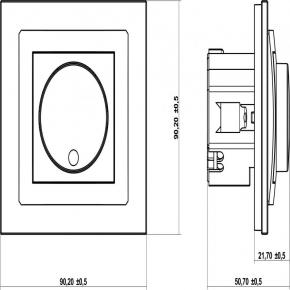 Regulatory-oswietlenia - brązowy metaliczny regulator oświetlenia do lamp led 9dro-2 deco karlik