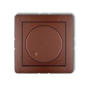 Regulatory-oswietlenia - ściemniacz przyciskowo-obrotowy brązowy 9dro-1 deco karlik