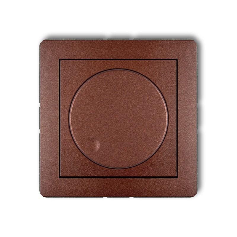 Regulatory-oswietlenia - ściemniacz przyciskowo-obrotowy brązowy 9dro-1 deco karlik firmy Karlik