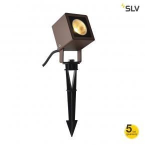 Lampy-ogrodowe-stojace - ogrodowa lampa wbijana reflektor rdzawy 8,5w 3000k ip65 nautilus 10 1001937 spotline
