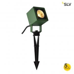 Lampy-ogrodowe-stojace - reflektor ogrodowy wbijany zielony 3000k 8,5w nautilus 10 1001938 spotline