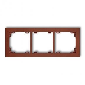 Ramki-potrojne - brązowa metaliczna ramka potrójna 9dr-3 deco karlik