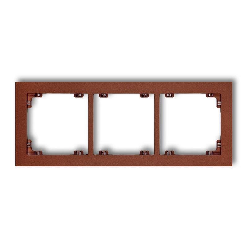 Ramki-potrojne - brązowa metaliczna ramka potrójna 9dr-3 deco karlik firmy Karlik
