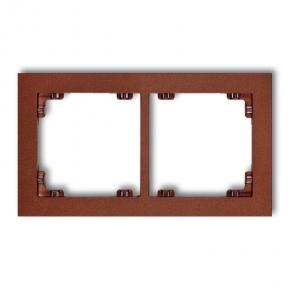 Ramki-podwojne - podwójna ramka brązowa metaliczna 9dr-2 deco karlik
